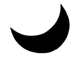 Silhouette eines Mondes.