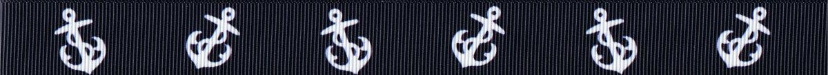 6 schräg gestellte weiße Anker, jeweils 2 mit ihren Spitzen zueinanderzeigend, vor tiefblauem Hintergrund.
