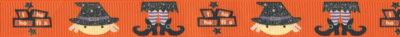 """Auf orangefarbenem Hintergrund: Fröhliche Köpfe mit Hüten, Beine mit gebogenen Schuhen. Schriftzug: """"If the shoes fits."""""""