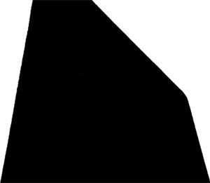 schwarzes ungleichschenkeliges Fünfeck
