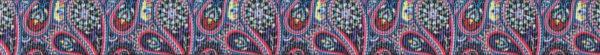 Vielfärbiges, sehr detaillreiches Paisleymuster. Hauptfarbton: rotviolett.