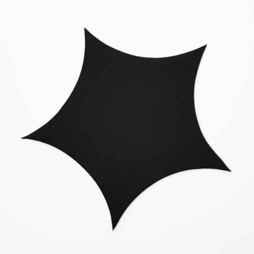 Silhouette 5-zackiger, schwarzer Stern