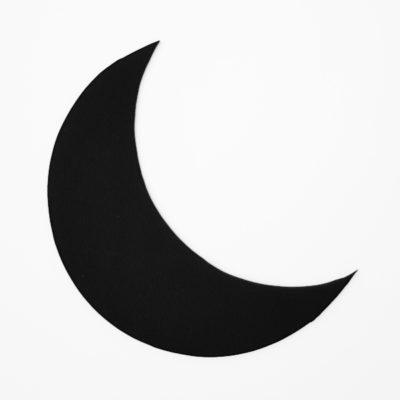 Silhouette schwarzer Mond