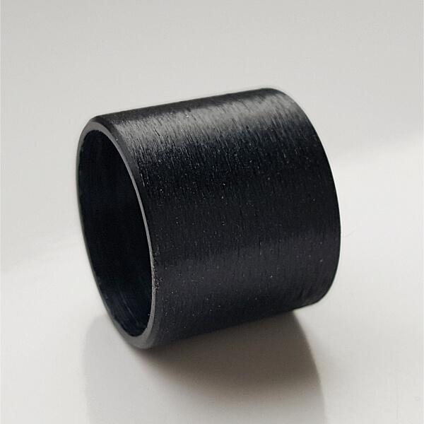 Schwarz eloxierte Aluminiumrolle.