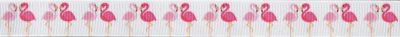 Design: Jeweils ein rosa und ein pinkfarbener Flamingo zueinander gewandt auf weißem Hintergrund.