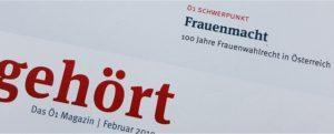 """Teilansicht Deckblatt des Ö1-Programm-Magazins """"gehört"""""""