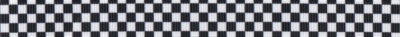Vier Reihen Schachbrettmuster in schwarz-weiß.