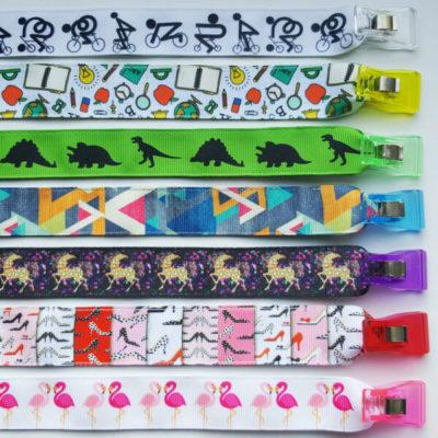 7 untereinanderliegende Beispiele für integrierte Clipbänder