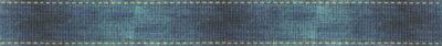 Blauverwaschene Optik mit gelber Strichlierung an den beiden Rändern