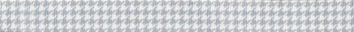 Grau-weißer Ripsbanddruck in Vichy-Optik.