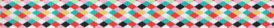 Bunte Rauten auf Polyester-Ripsband