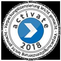 Lizenzierungsstempel 2018 der Fa. Reclay