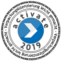 Lizenzierungsstempel 2019 der Fa. Reclay