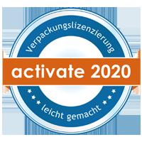 Lizenzierungsstempel 2020 der Fa. Reclay