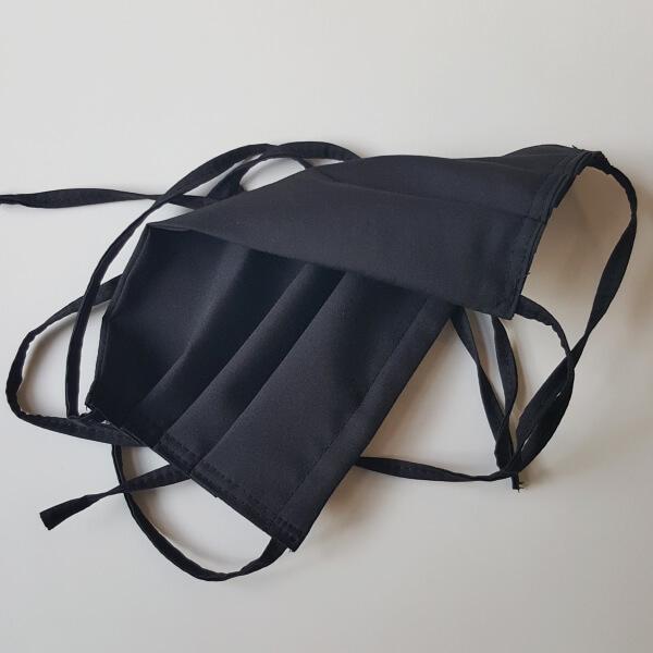 Behelfs-Schutzmaske beiseitig schwarz