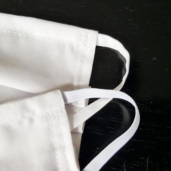 detail band bzw. gummi an masken