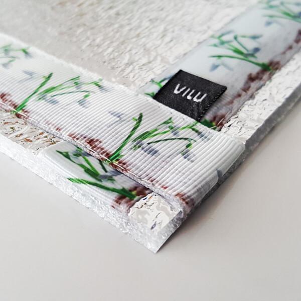 Teilansicht Sitzkissen, Eckgestaltung mit VILU-LOGO