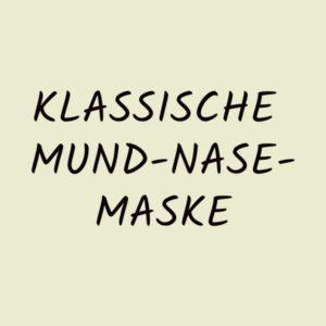 Klassische Mund-Nase-Maske
