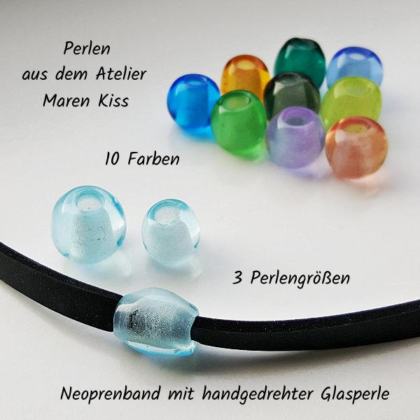 Die 10 Perlenfarben, aus dem Atelier Maren Kiss, die bei VILU für Schmuckbänder verwendet werden